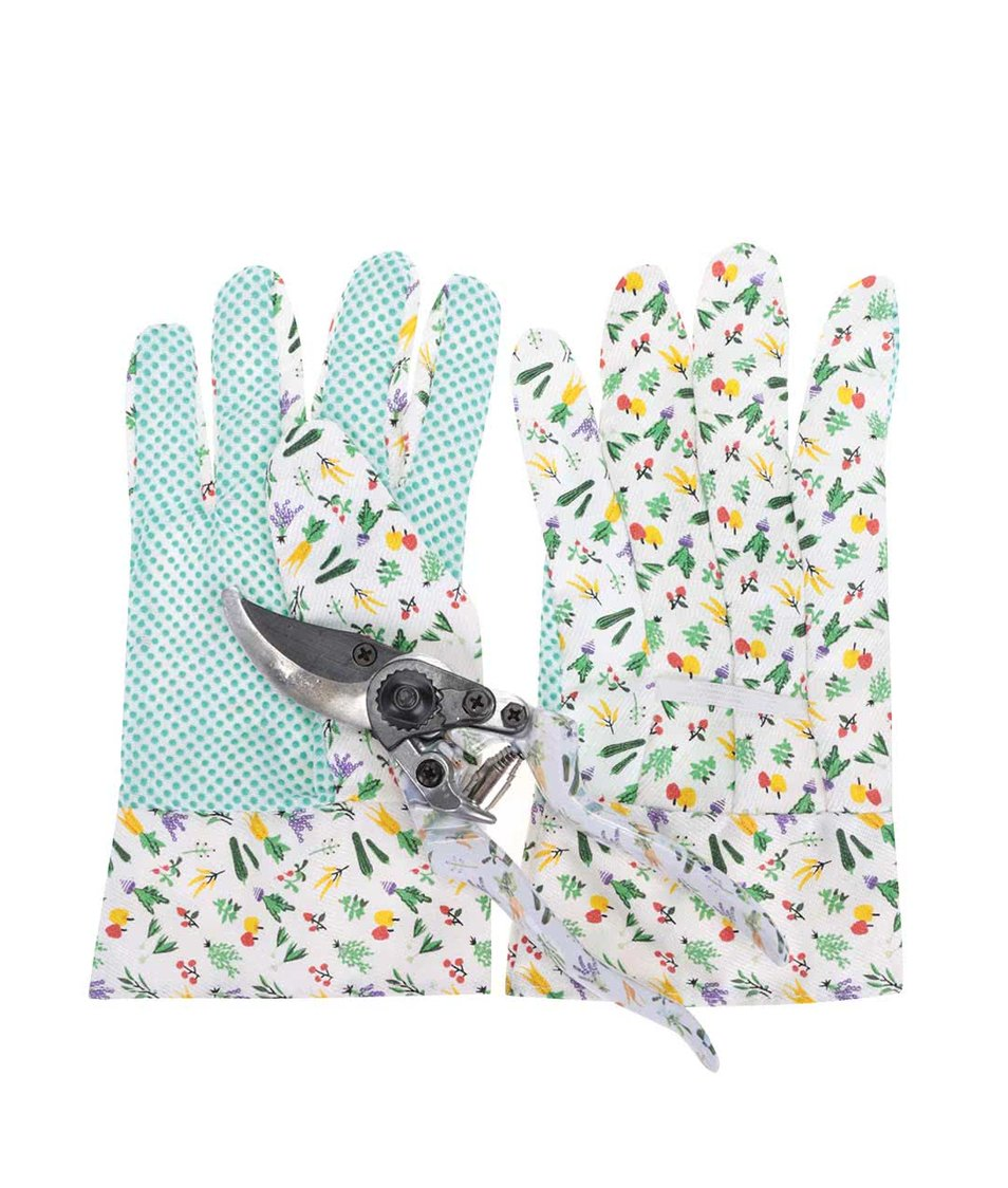 Zahradnický set rukavic a nůžek CGB