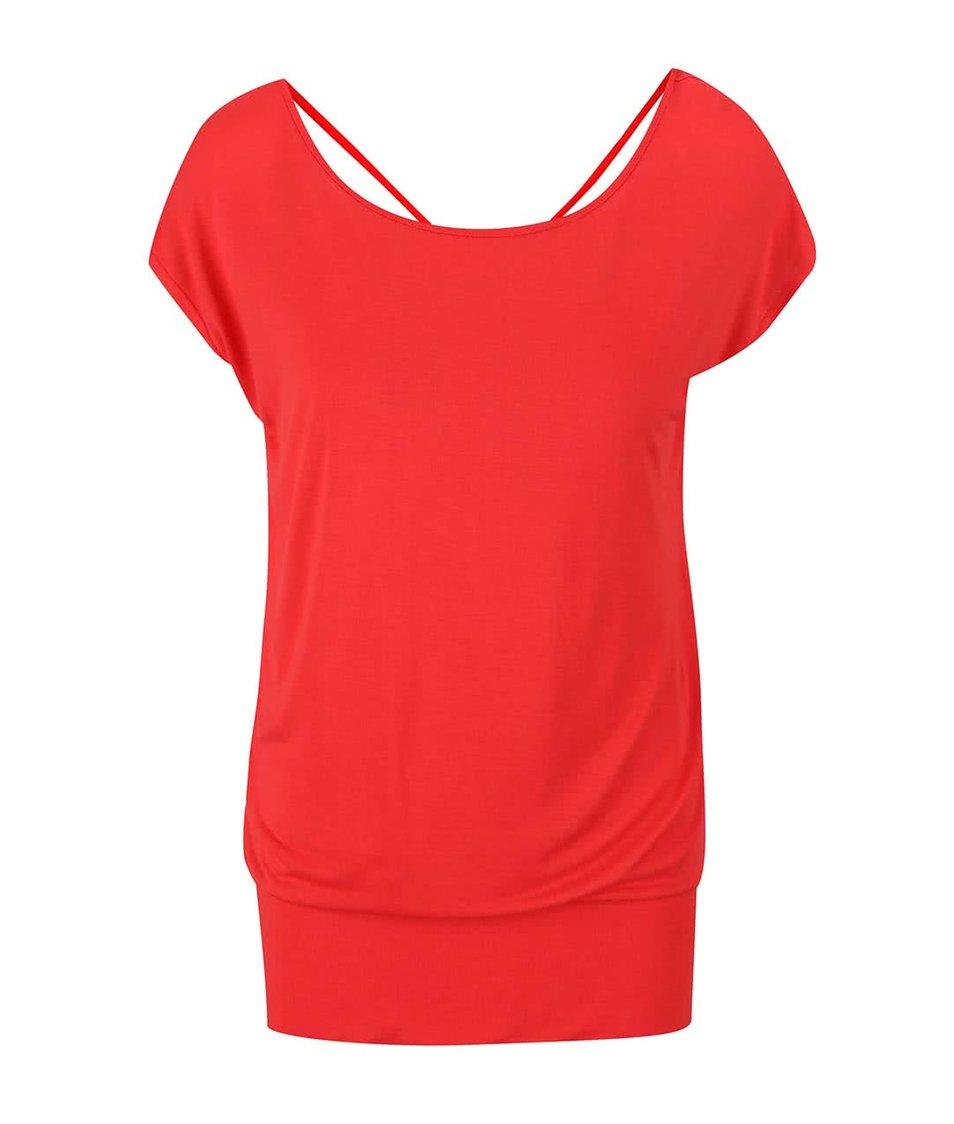 Červené dámké tričko s výstřihem na zádech Bench Alike