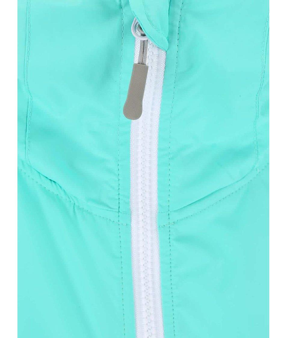 Tyrkysová dámská voděodolná bunda s kapucí Bench Profitability