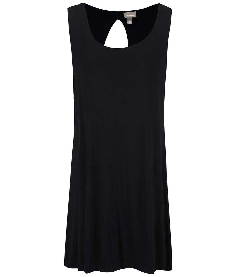 Černé šaty s výstřihem na zádech Bench Restore