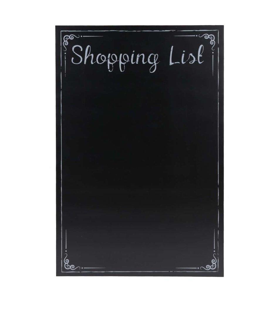 Černá tabule na nákupní seznam CGB