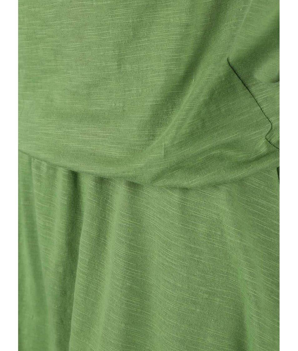 Zelené šaty s volným výstřihem Tranquillo Jade
