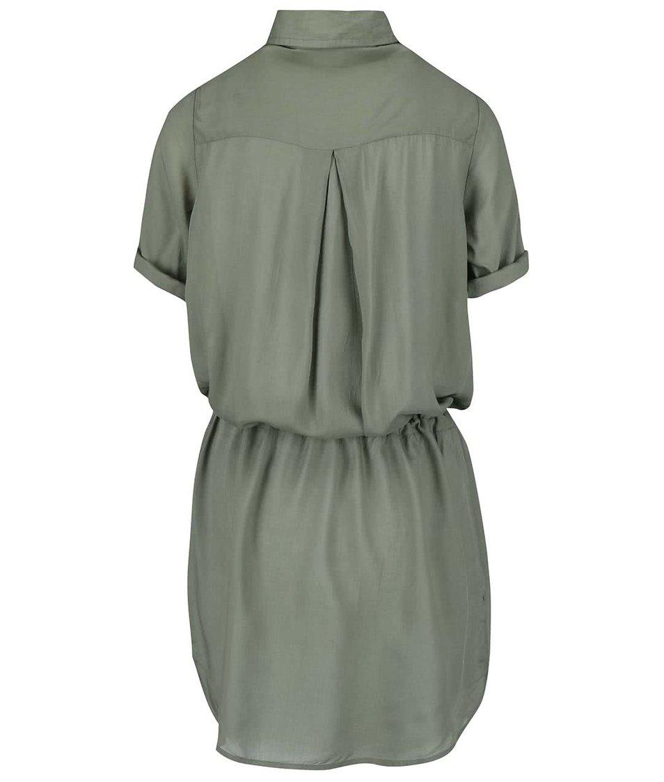 Khaki košilové šaty Tranquillo Paloma