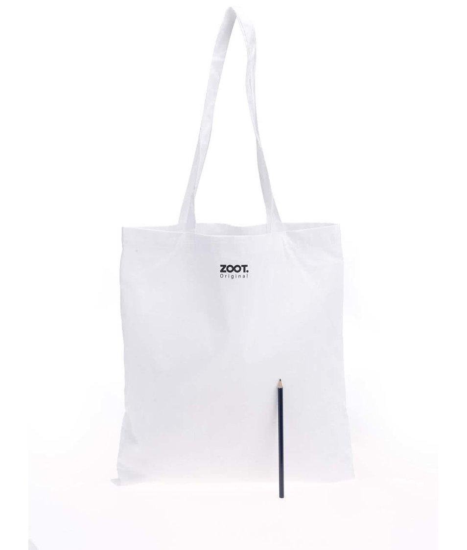 Bílá unisex plátěná taška ZOOT Originál Fake