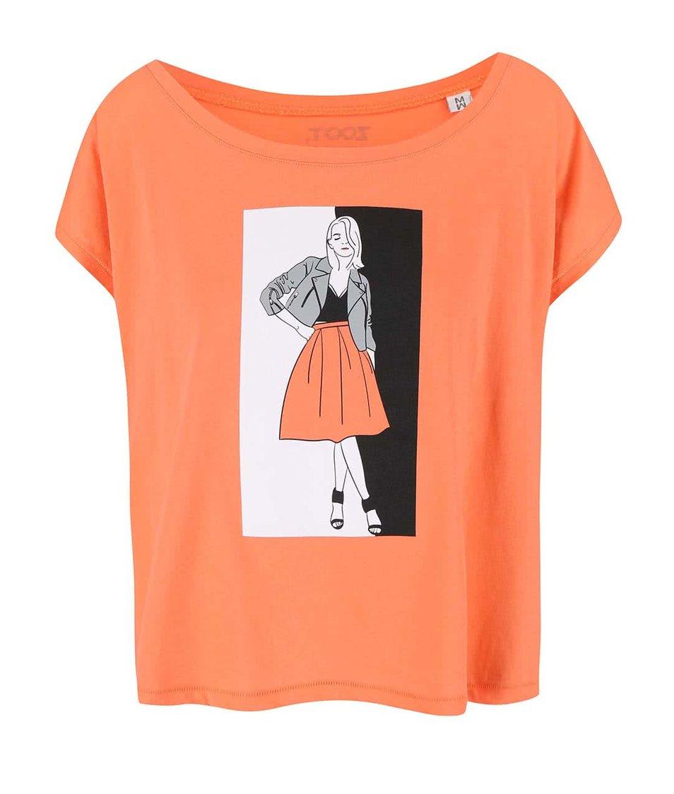 Korálové dámské tričko ZOOT Originál Fashion