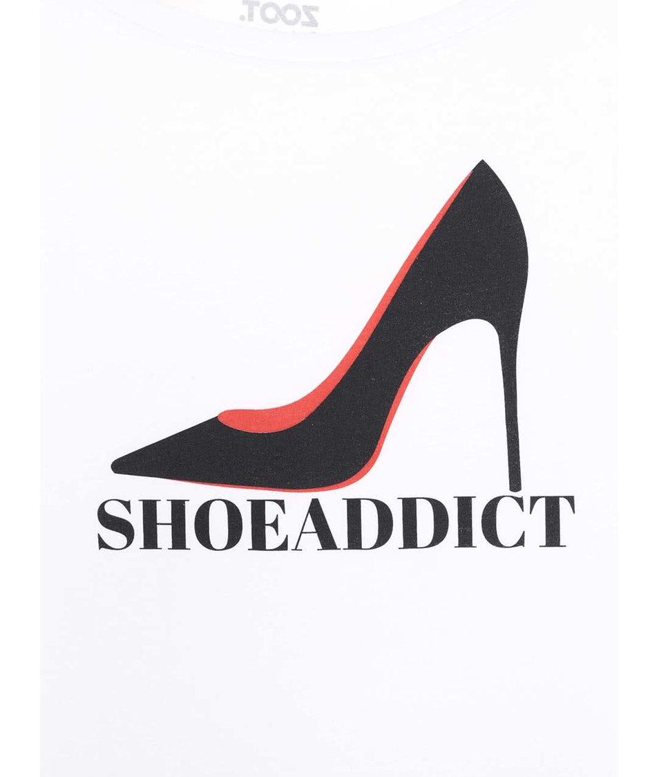 Bílé dámské tričko ZOOT Originál Shoe Addict