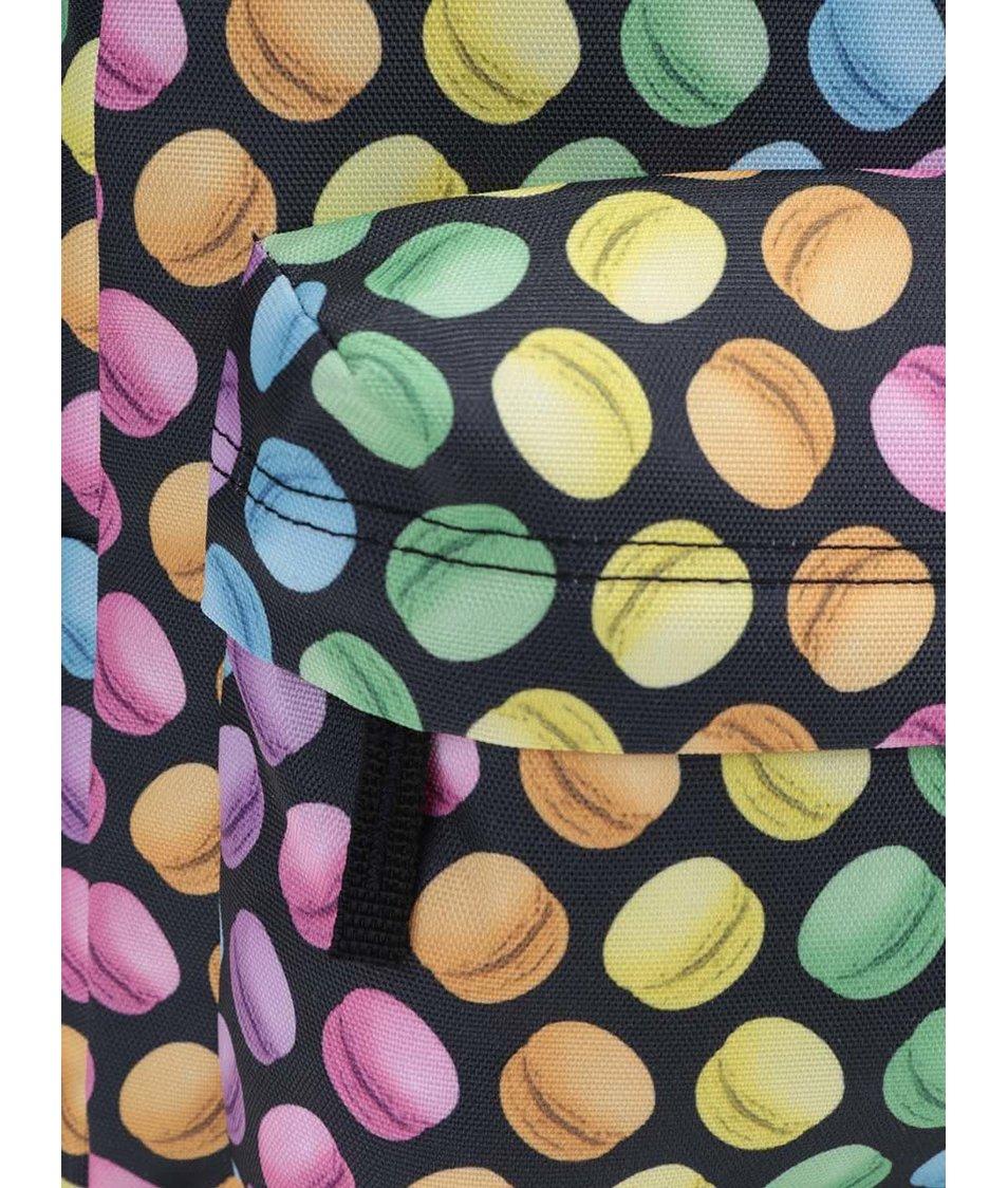 Černý batoh s barevnými makrónkami Vans Realm