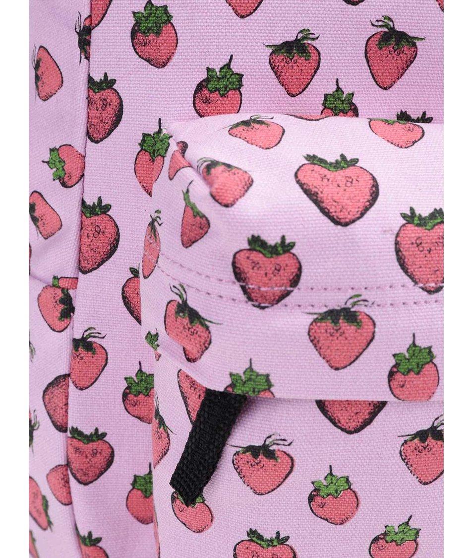 Růžový batoh s jahodovým potiskem Vans Realm