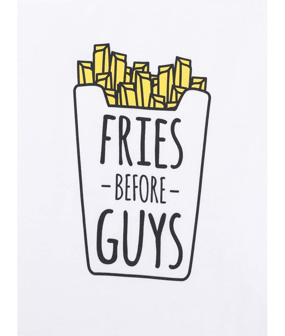 Bílé dámské tričko ZOOT Originál Fries
