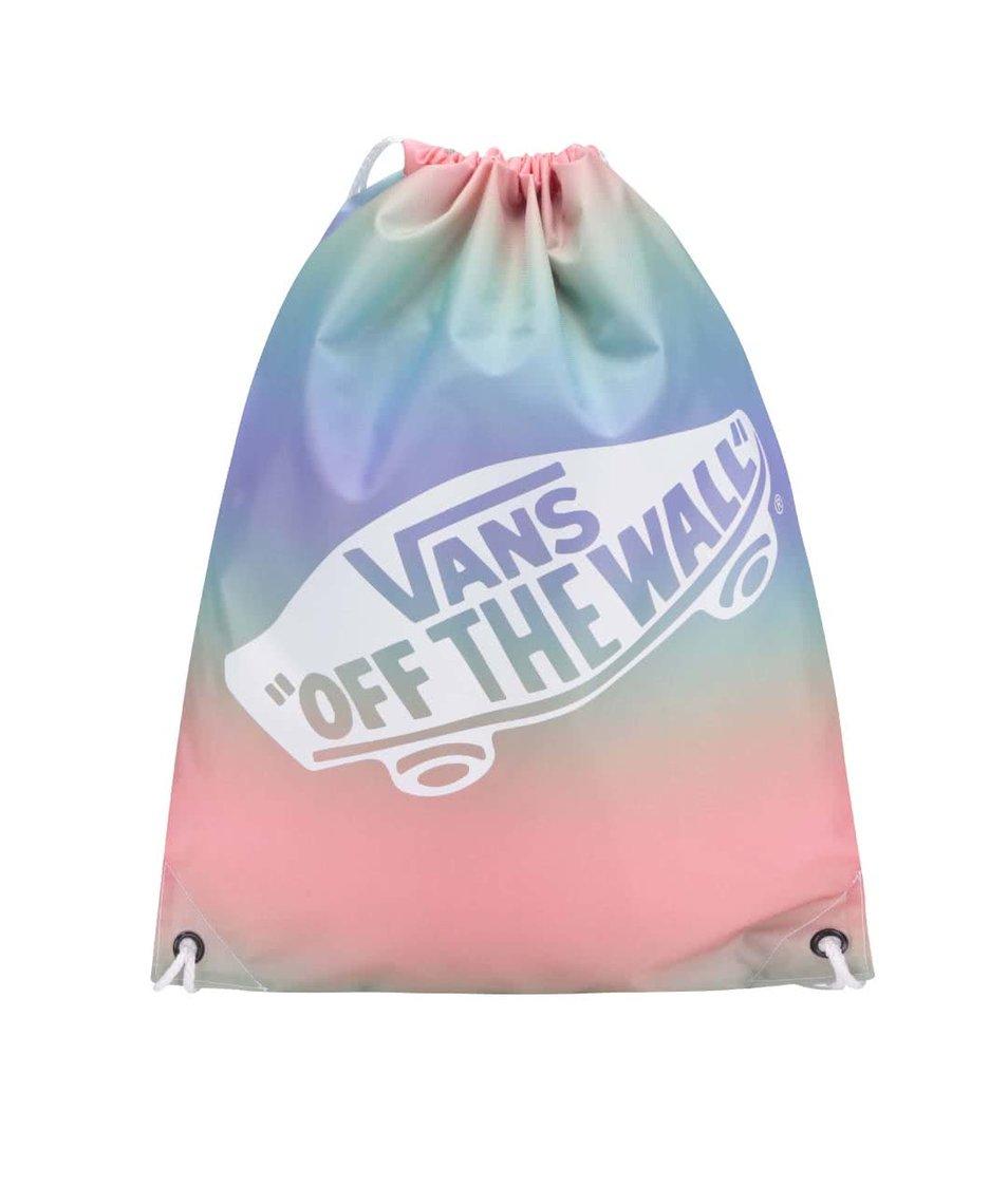 Růžovo-modrý duhový vak Vans Benched