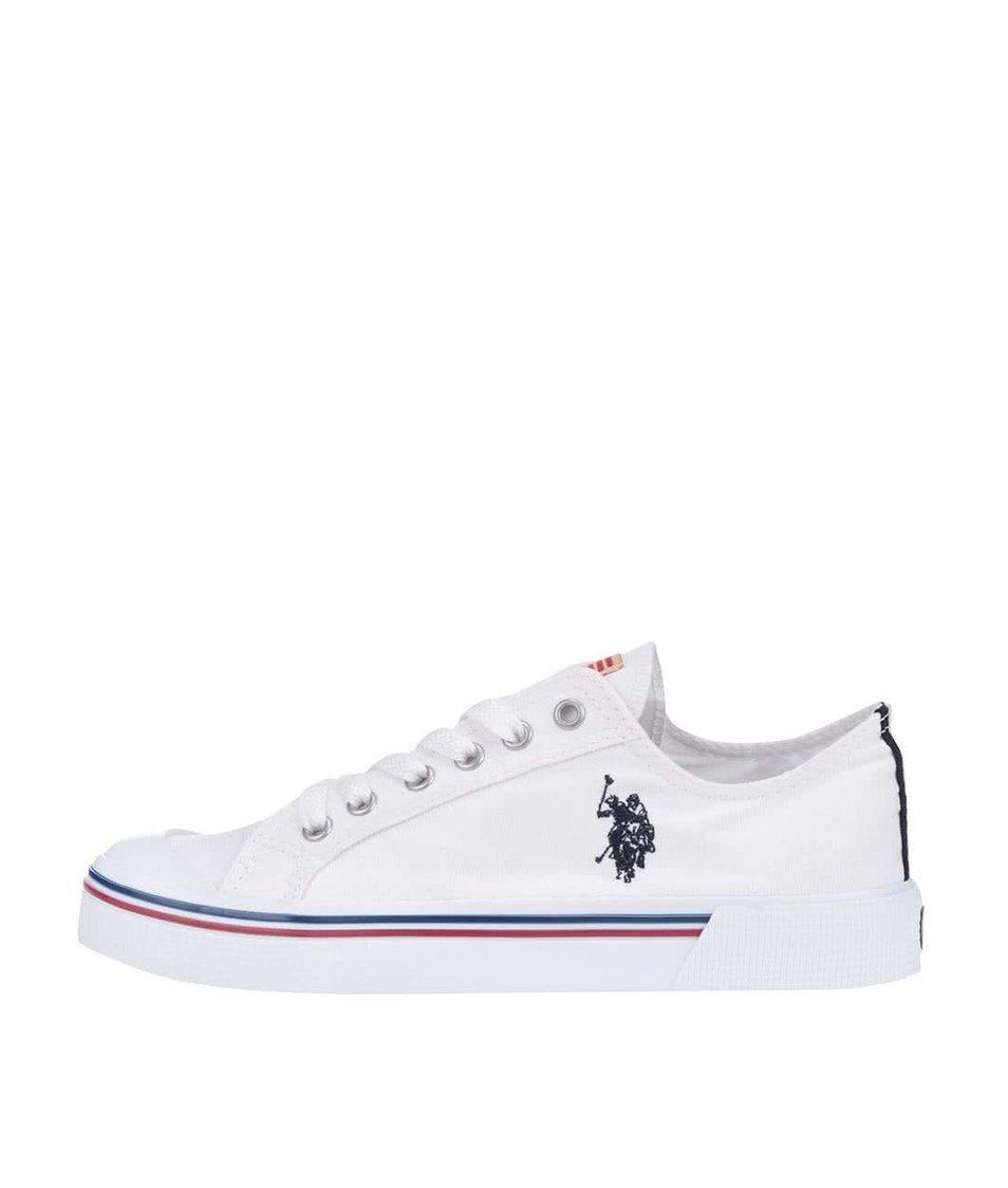Bílé dámské tenisky se znakem U.S. Polo Assn. Norw