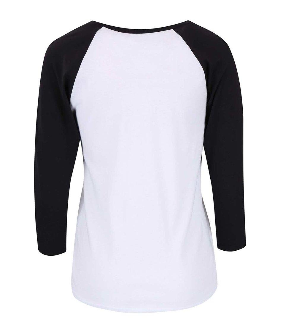 Bílé dámské tričko s 3/4 rukávem Vans Strawberried Ink