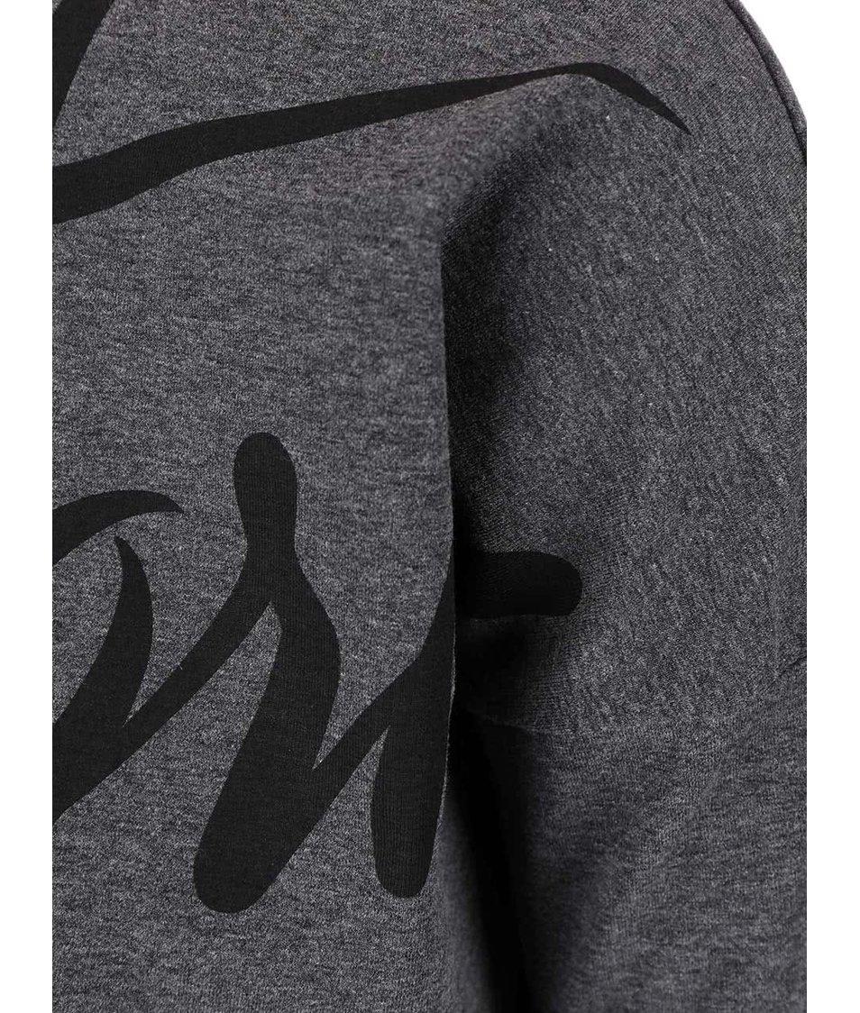 Šedé dámské tričko s potiskem Funstorm Reho