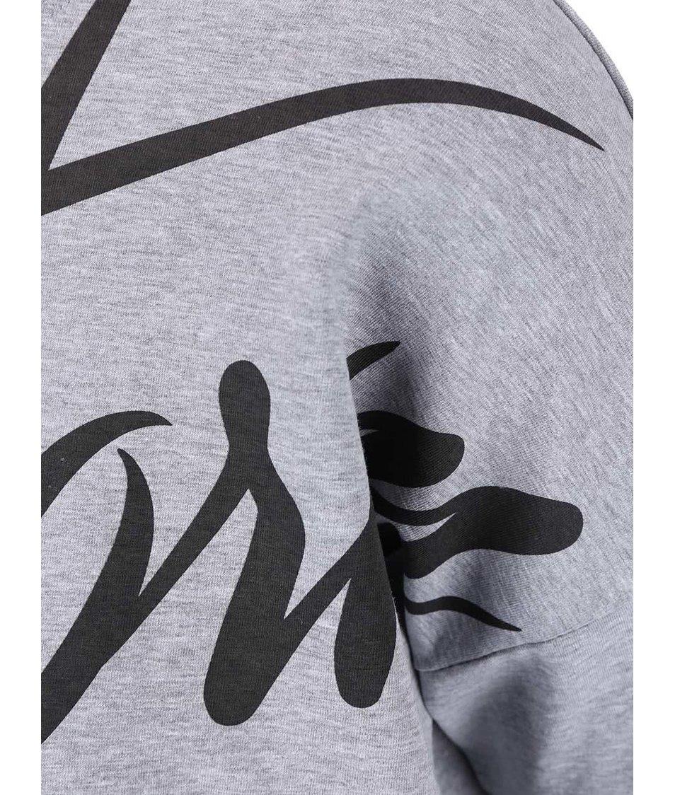 Světle šedé dámské tričko s potiskem Funstorm Reho