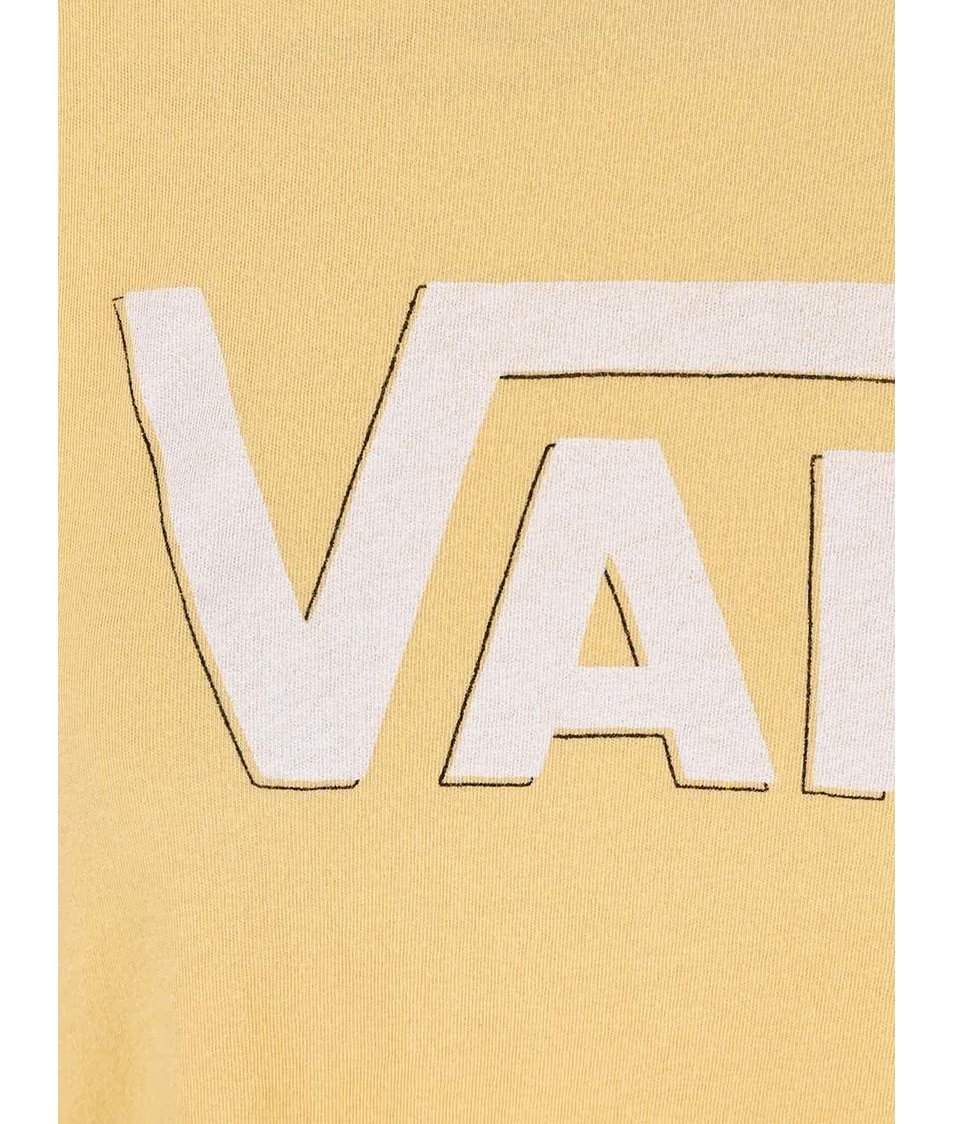 Žluté dámské tričko s logem Vans Authentic Rock 2