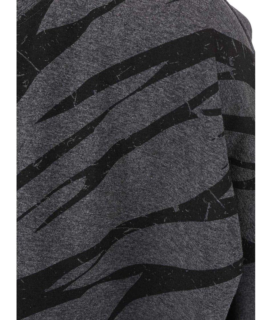 Tmavě šedé dámské delší tričko Funstorm Ichla