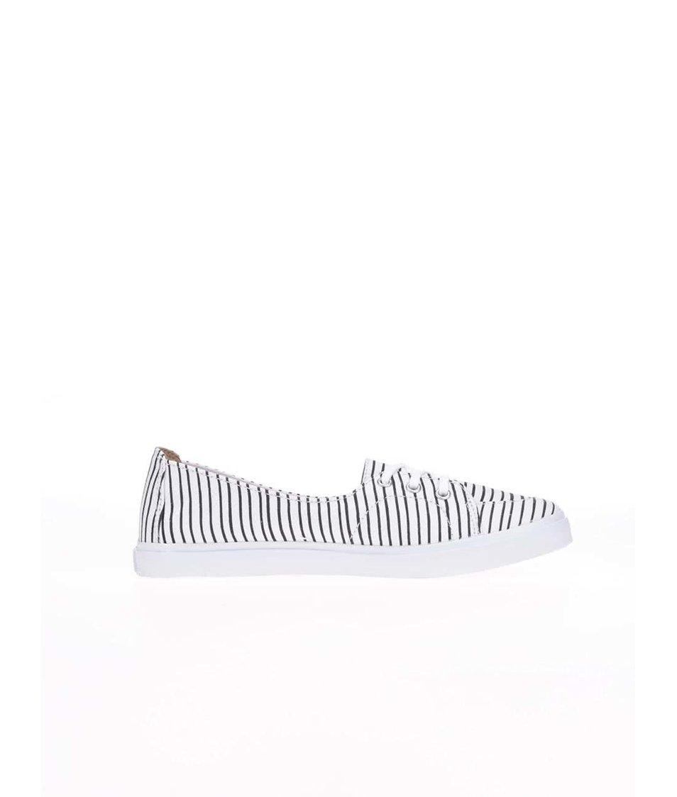 Černo-bílé dámské pruhované tenisky Vans Palisades