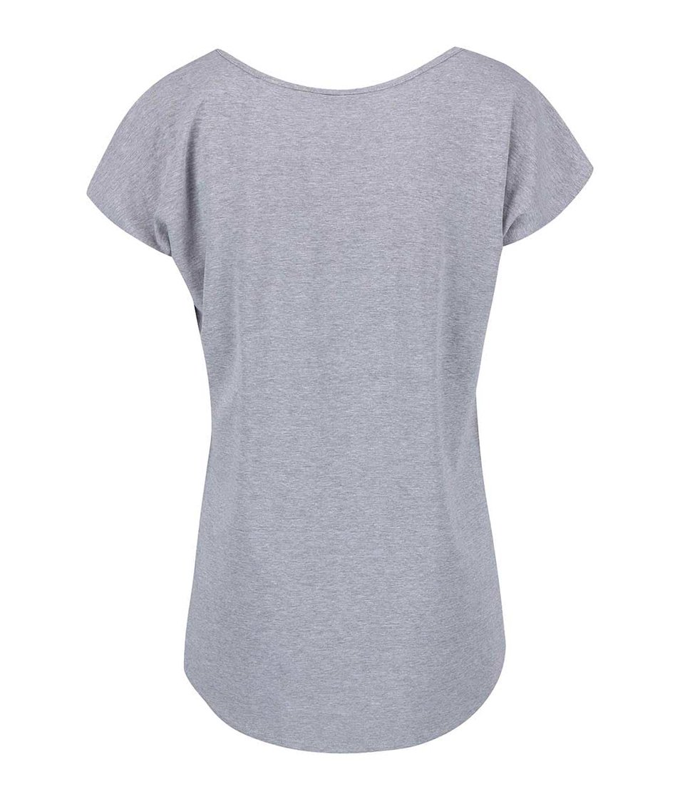 Šedé dámské oversize tričko s potiskem Funstorm Corte