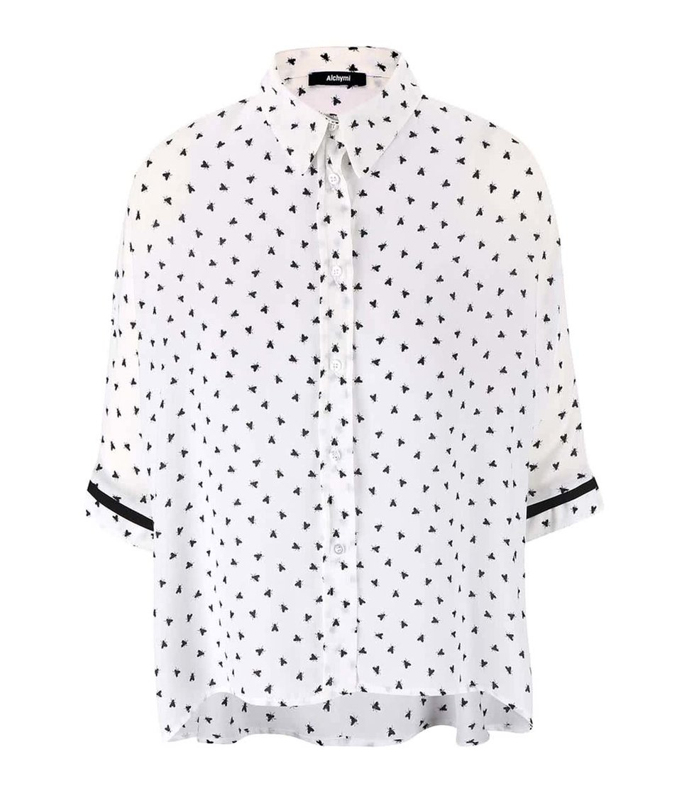 Bílá košile s vzorem mušek Alchymi Media