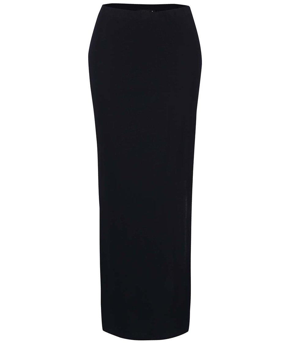 Tmavě modrá dlouhá sukně s rozparky ONLY Abbie