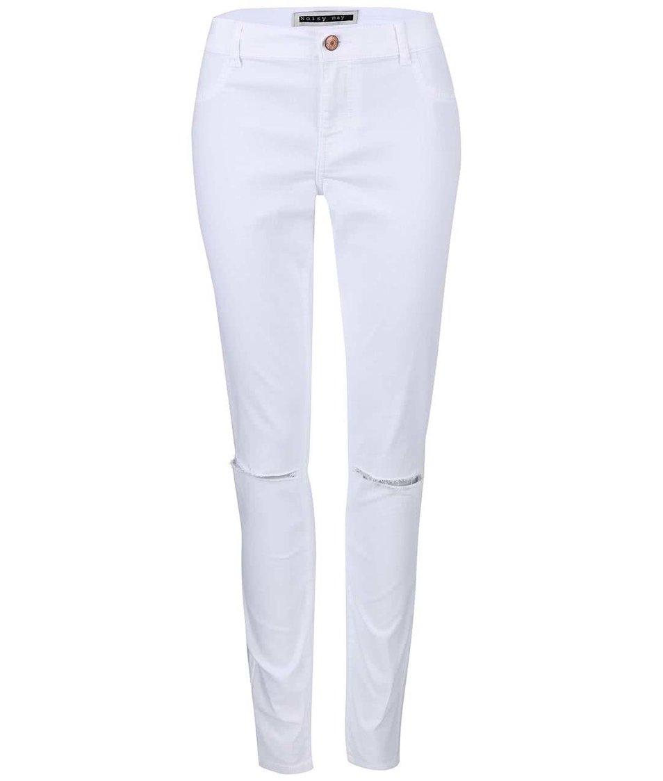 Bílé elastické džíny Vero Moda Flex