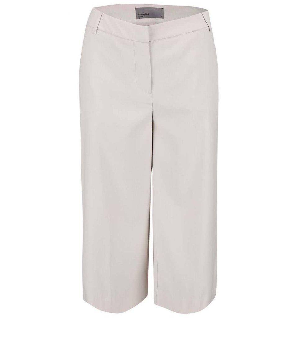 Krémové tříčtvrteční kalhoty Vero Moda Roro