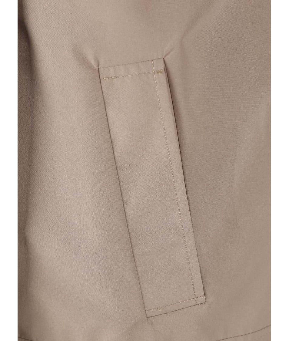 Béžový krátký kabát Vero Moda Canyon
