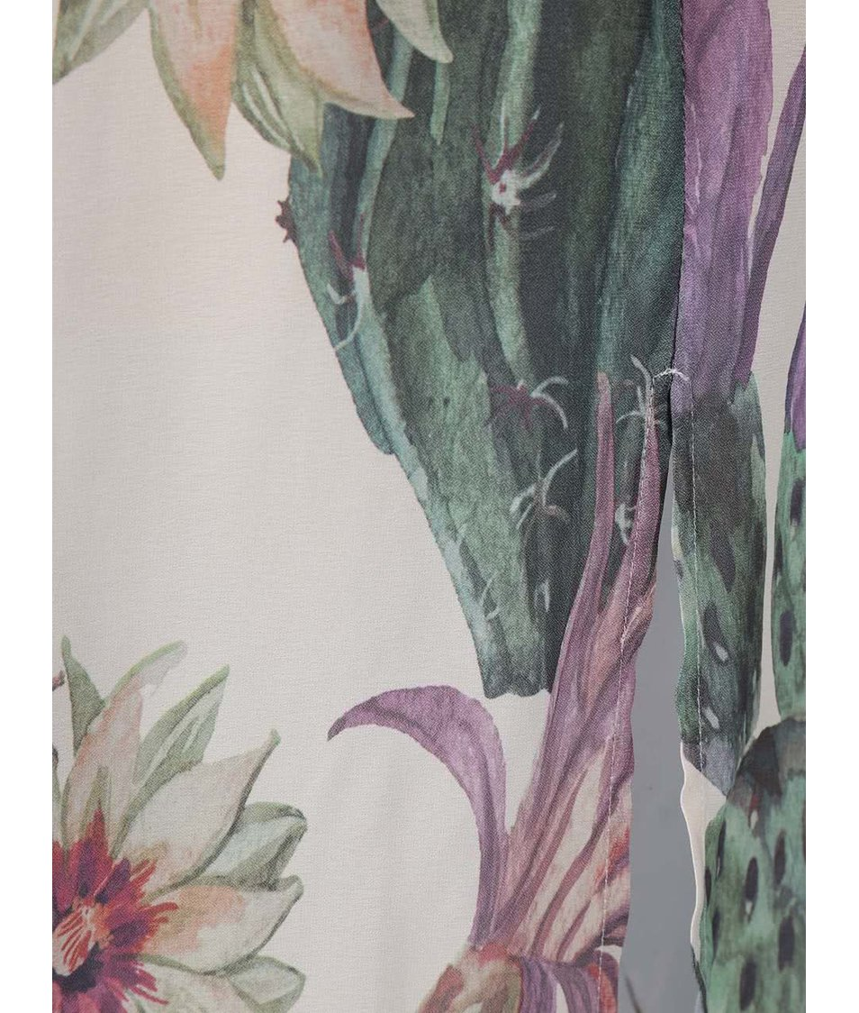 Krémové květované šaty Only Ariel