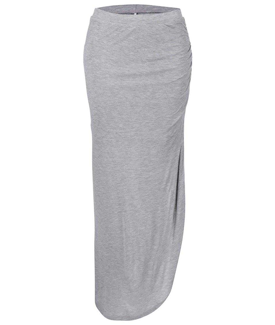 Šedá asymetrická sukně Only New Ria