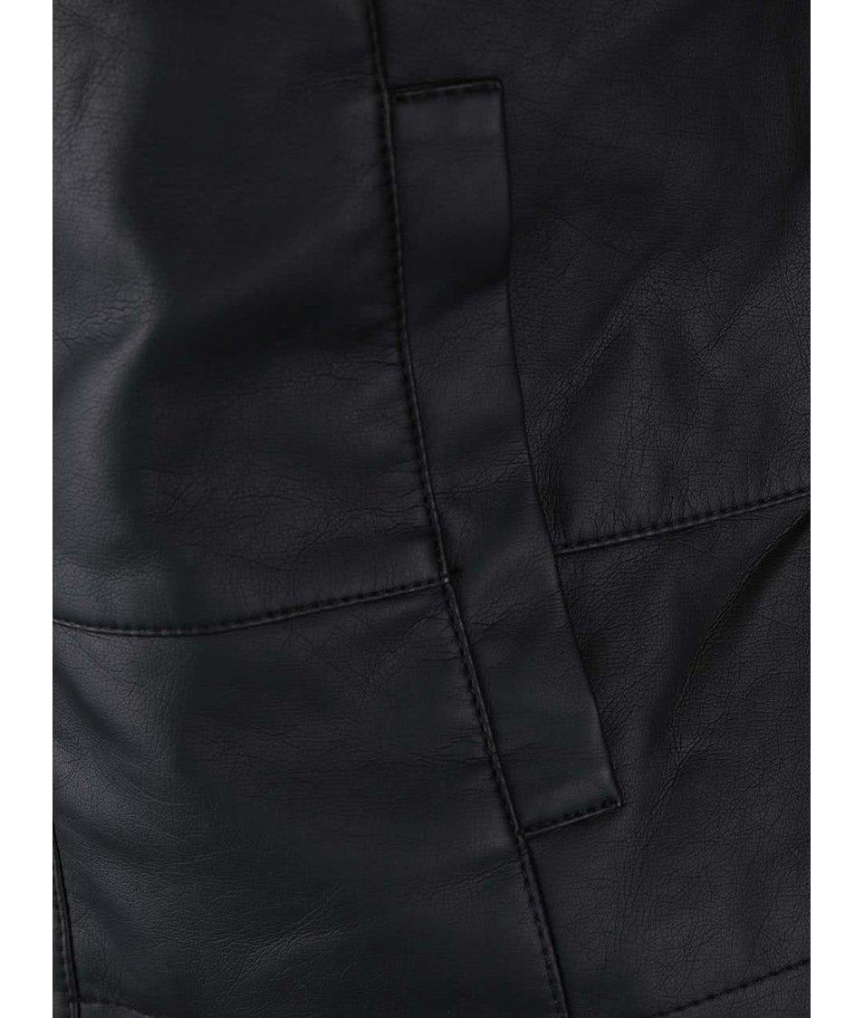 Černá koženková bunda Vero Moda Lewa
