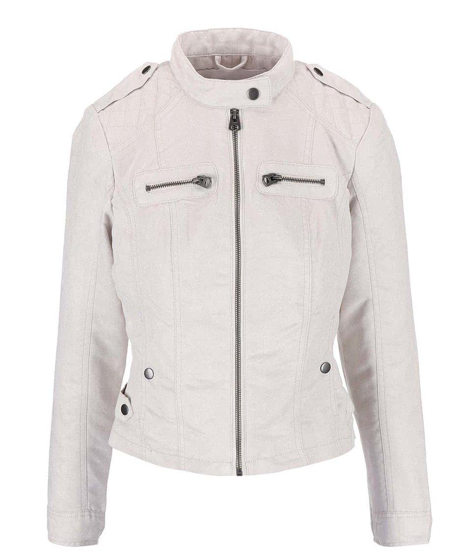 Krémová bunda v semišové úpravě Vero Moda Houston