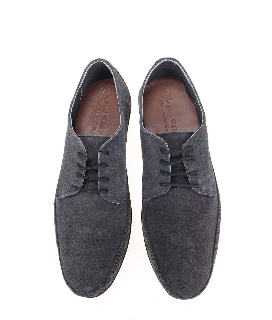 Šedomodré kožené boty Frank Wright St Lucia