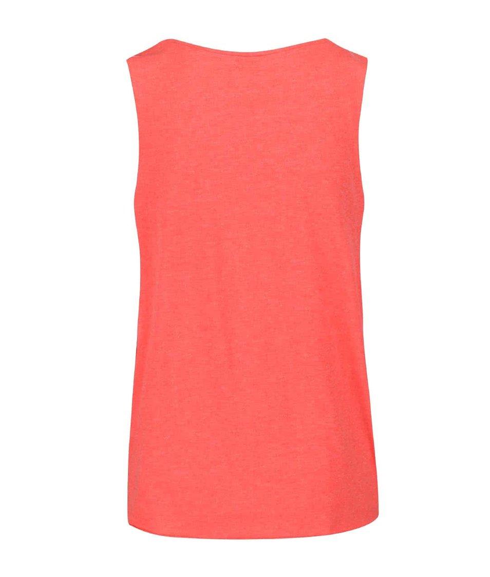 Růžové tričko bez rukávů s potiskem Vero Moda Julie