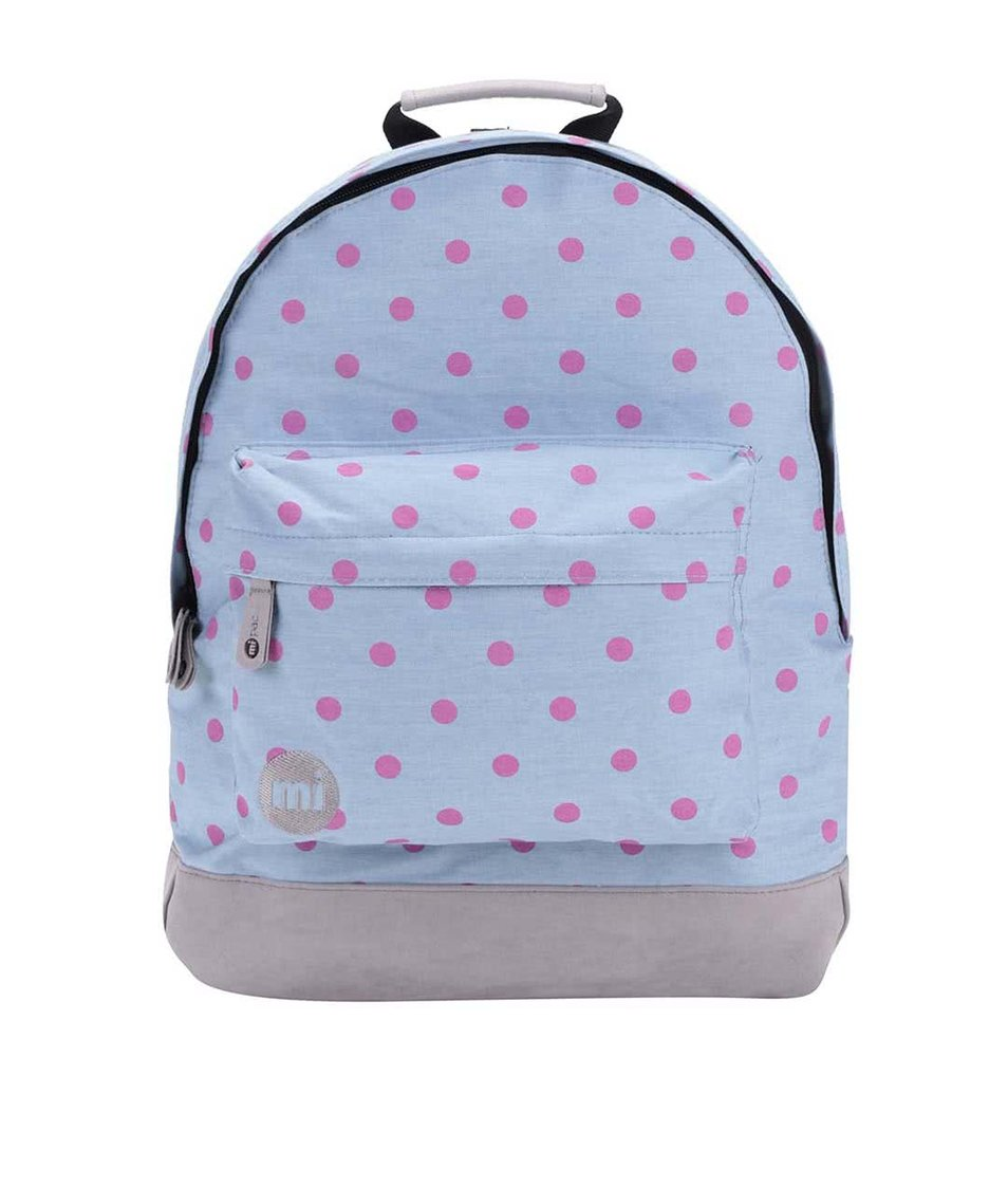 Modrý batoh s růžovými puntíky Mi-Pac Denim Polka