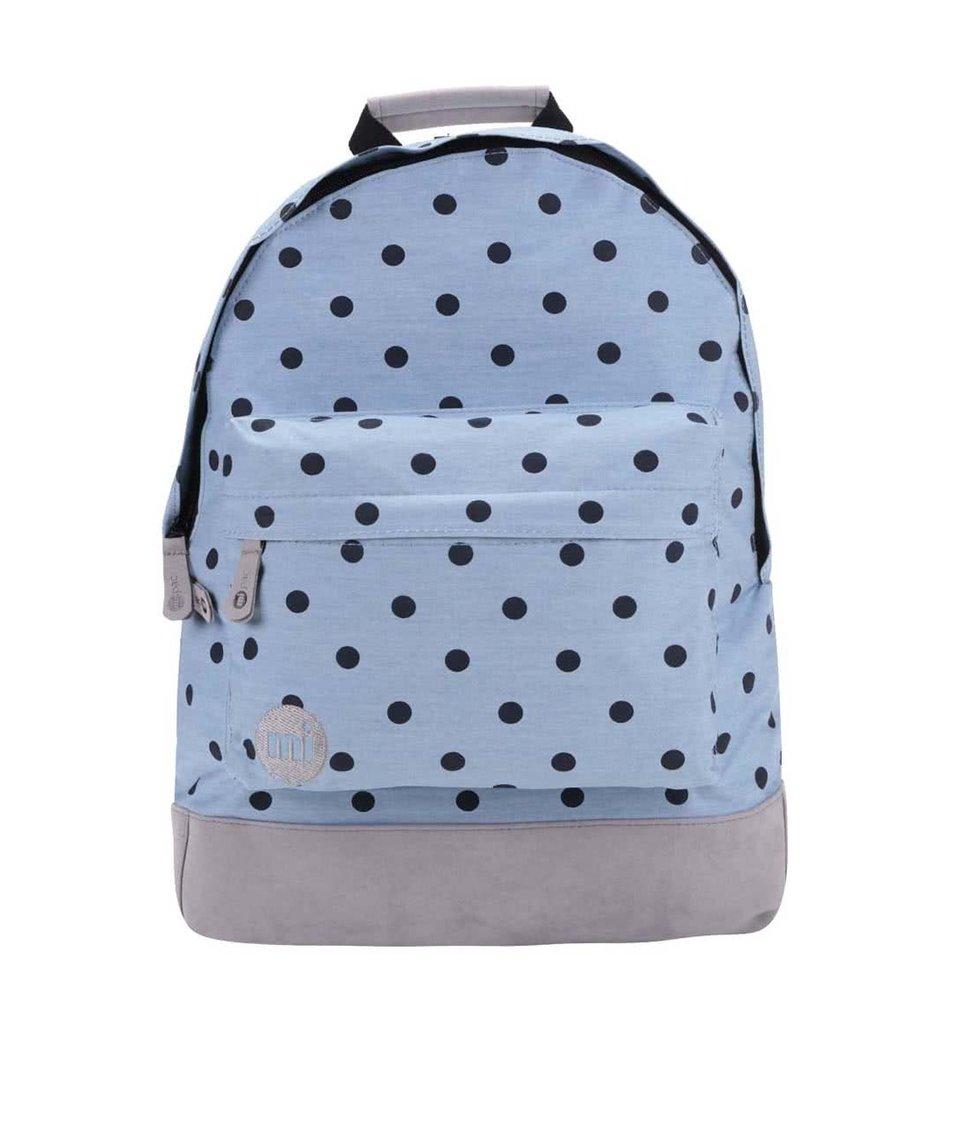Světle modrý batoh s tmavě modrými puntíky Mi-Pac Denim Polka