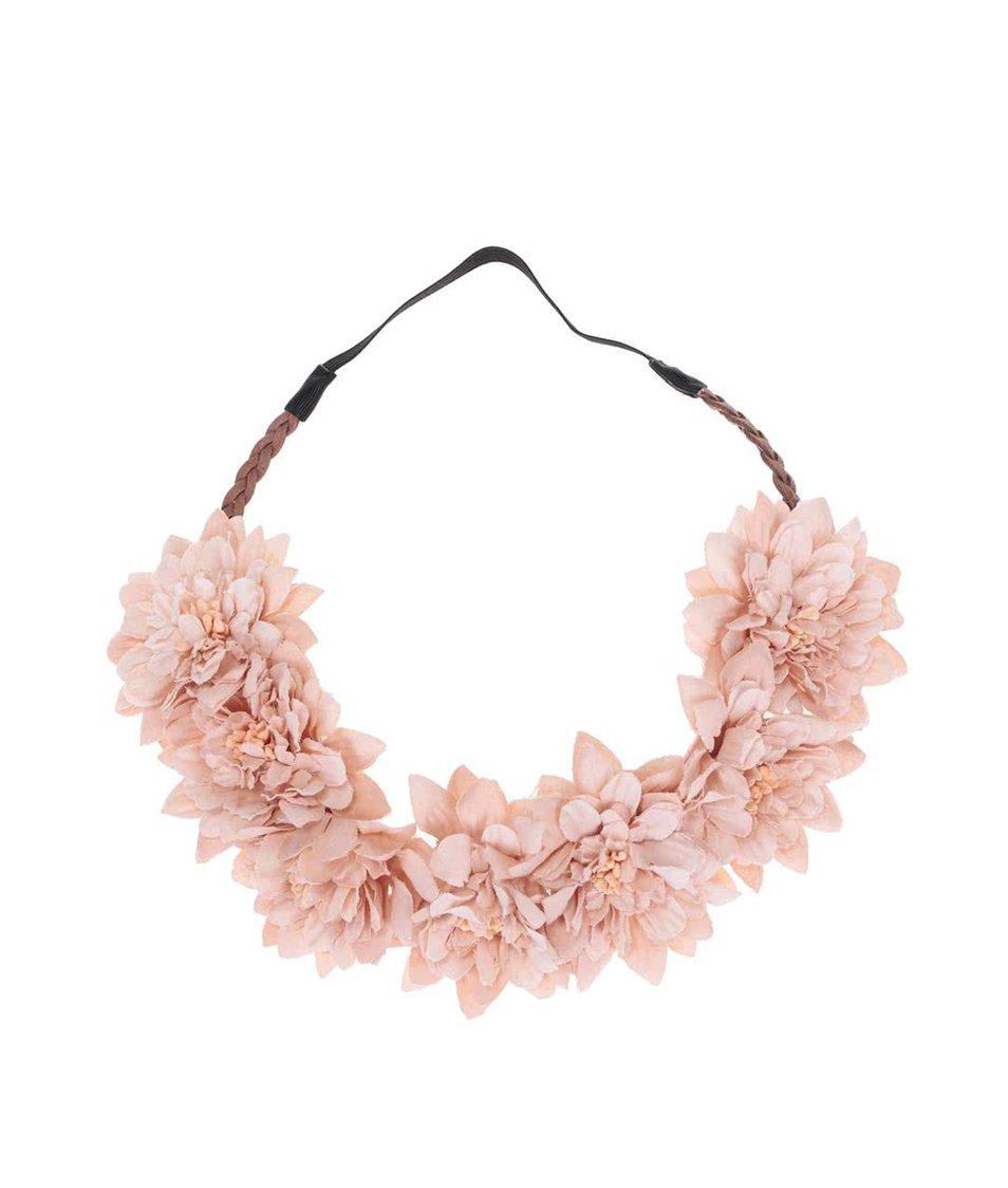 Elastická čelenka s květinami Vero Moda Daisy