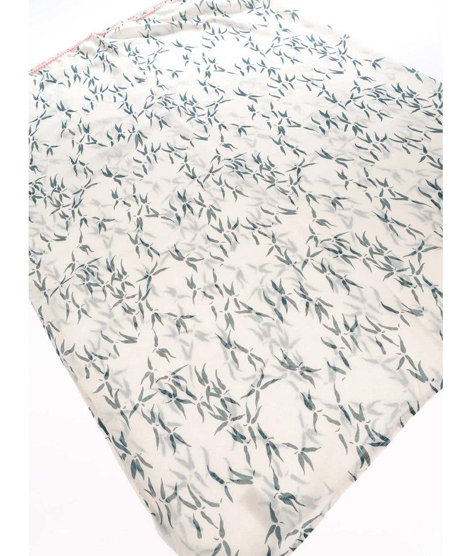 Růžový dutý šátek s potiskem lístků Vero Moda Spin
