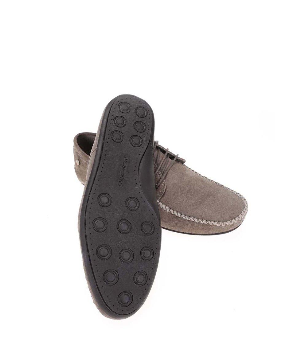 Béžové kožené boty Frank Wright Barts
