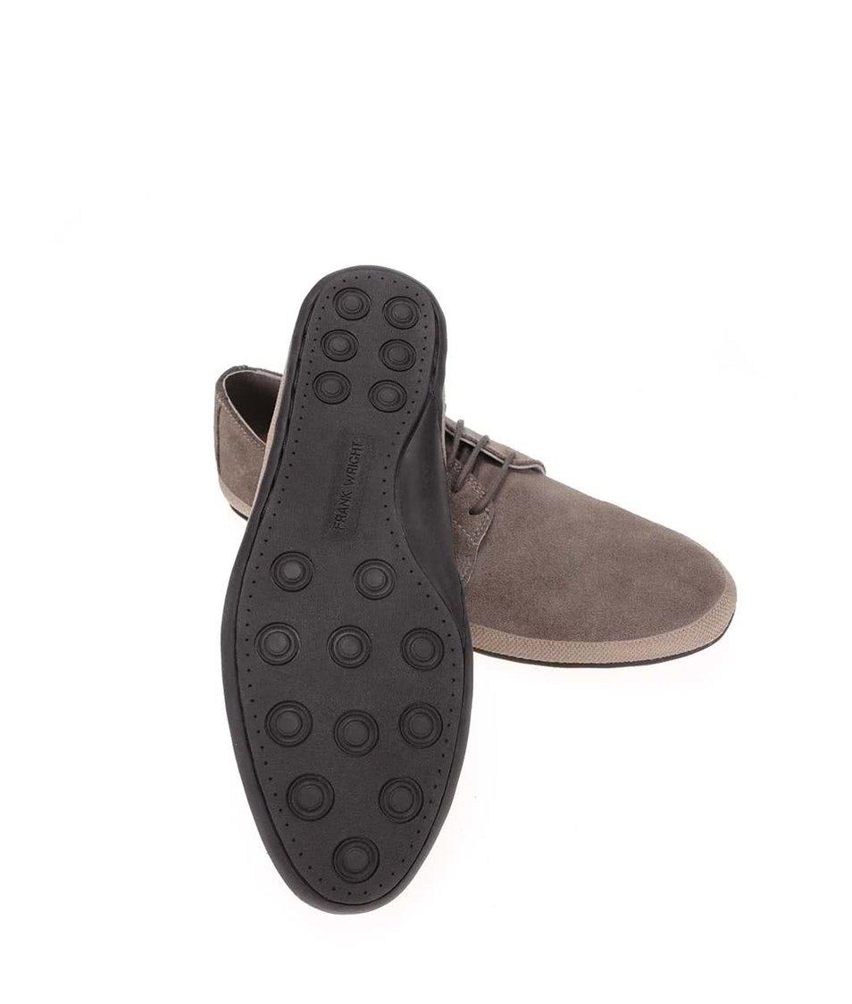 Khaki kožené boty Frank Wright St Lucia