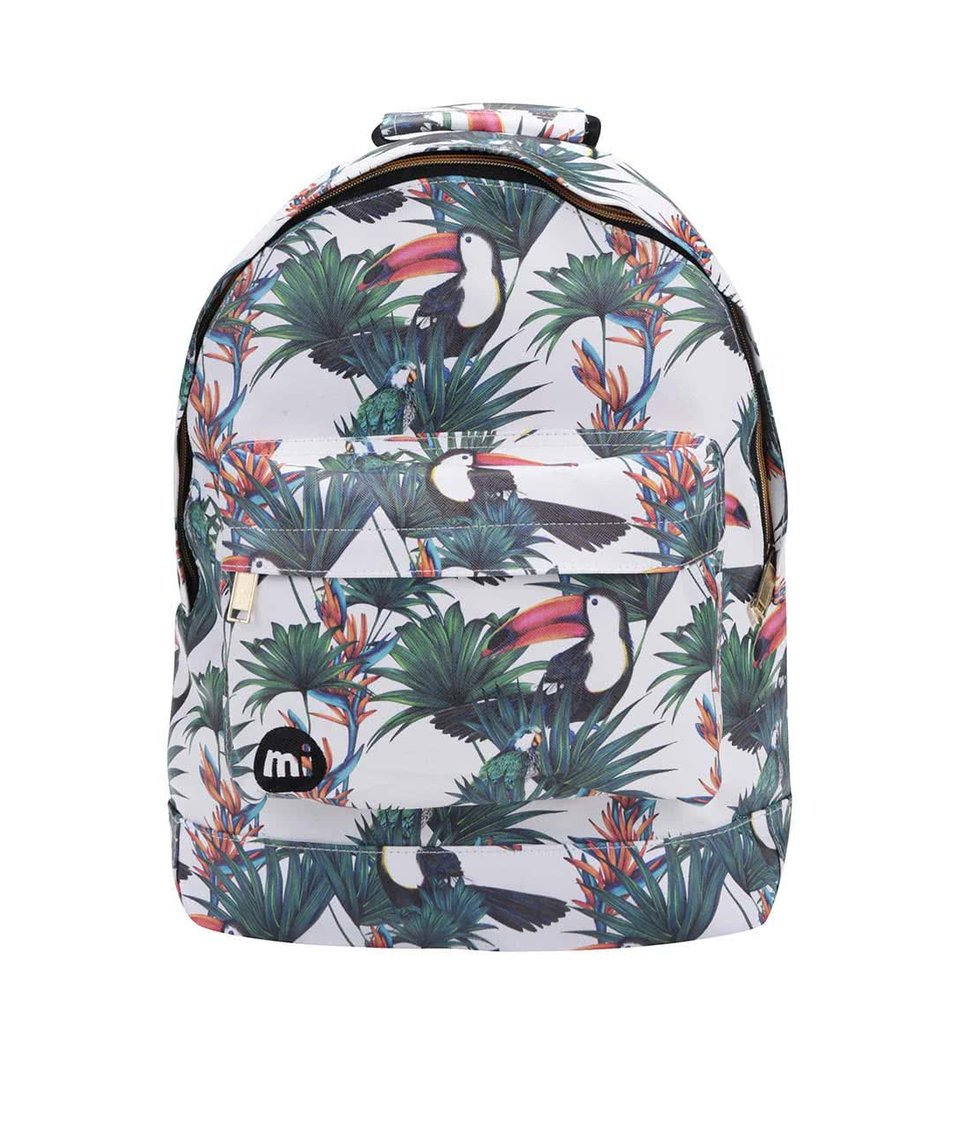 Bílý batoh s tropickým vzorem Mi-Pac Ultraviolet Jungle
