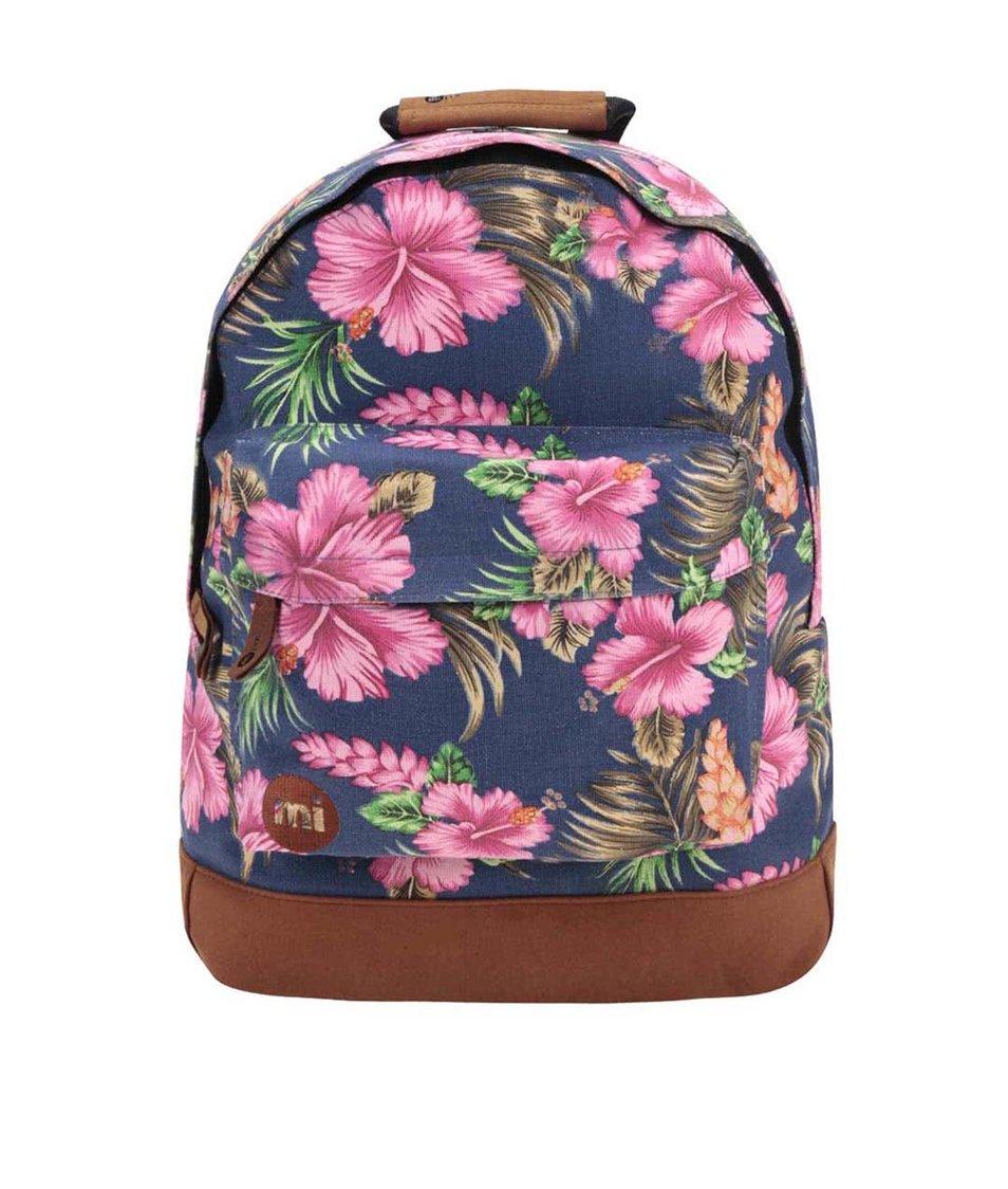 Tmavě modrý batoh s tropickým vzorem Mi-Pac