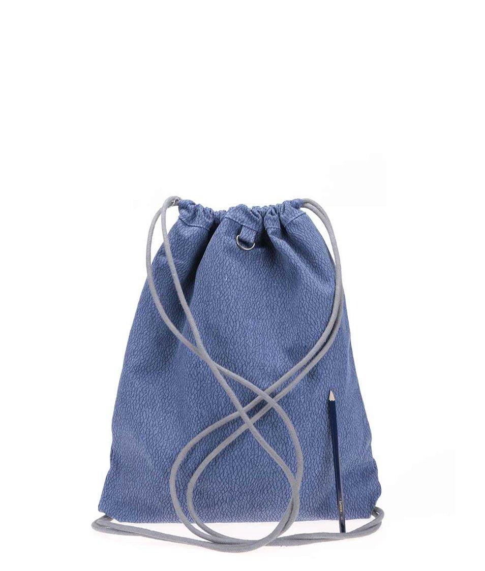 Tmavě modrý vzorovaný denimový vak Mi-Pac Kit Bag Elephant Skin