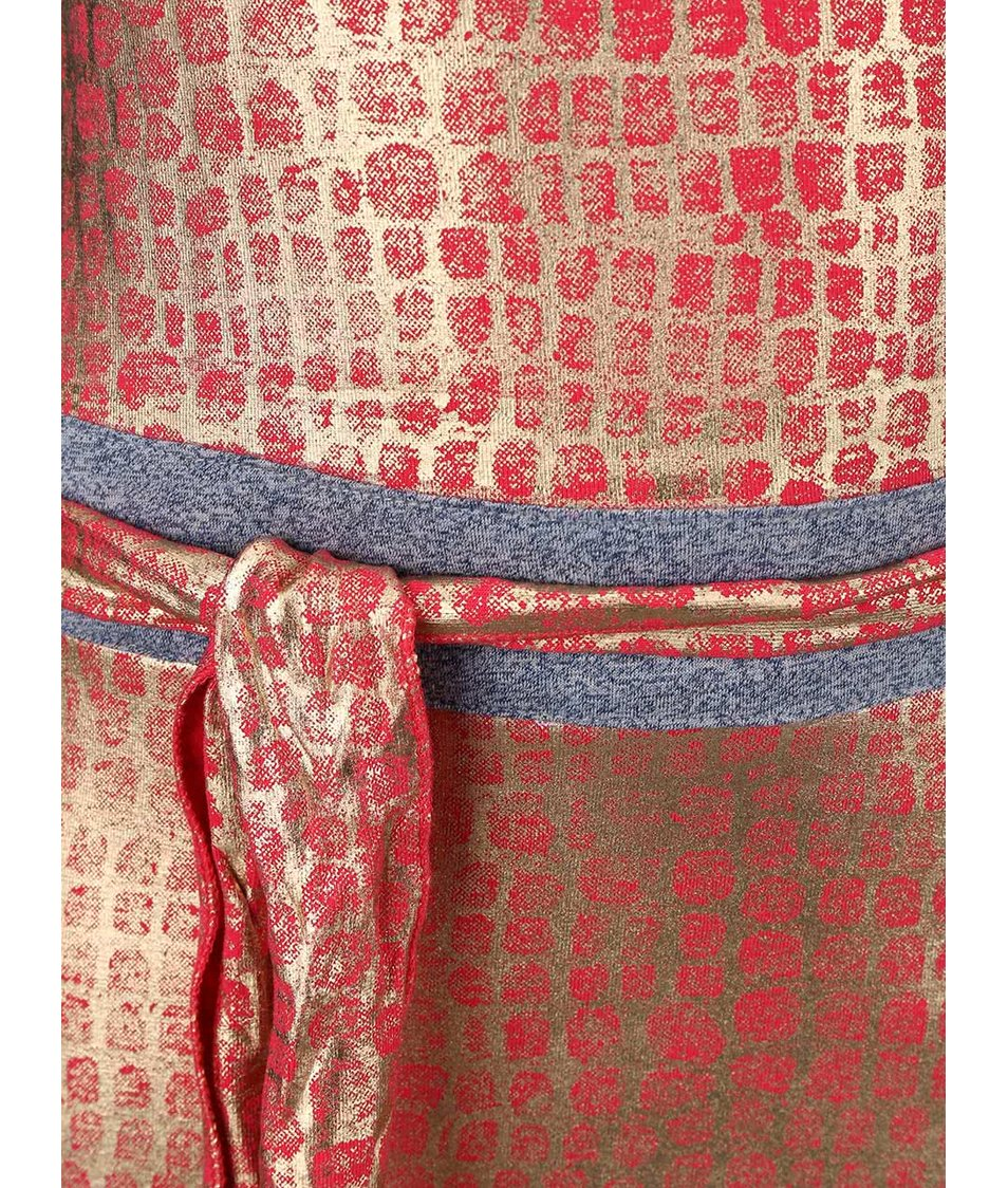 Červeno-šedé šatičky LoveStation22 Imani
