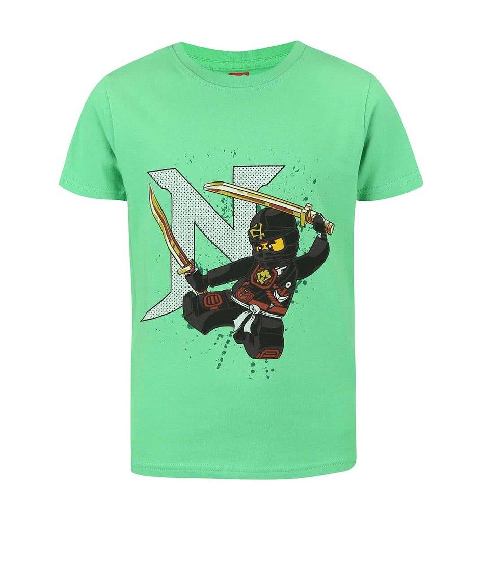 Zelené klučičí tričko s potiskem LEGO Wear Ninjago