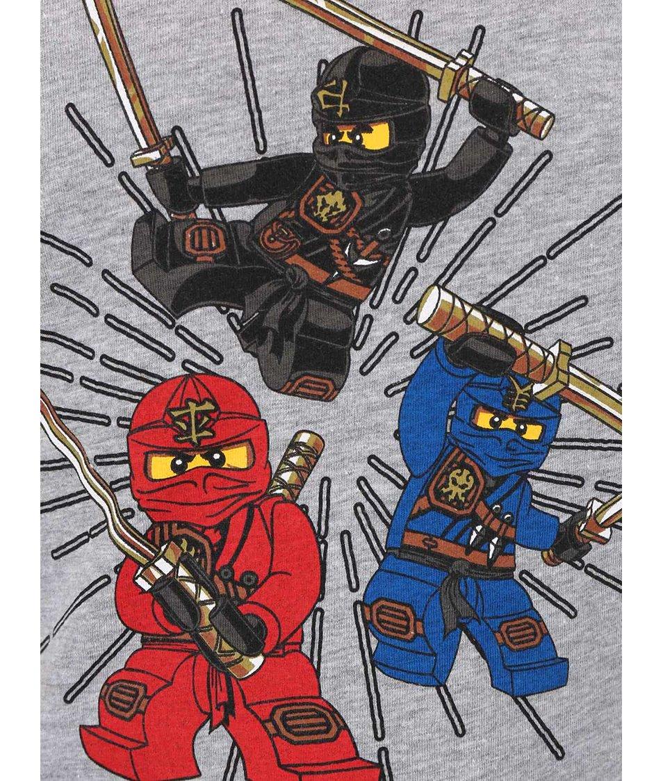 Šedé klučičí tričko LEGO Wear Ninjago