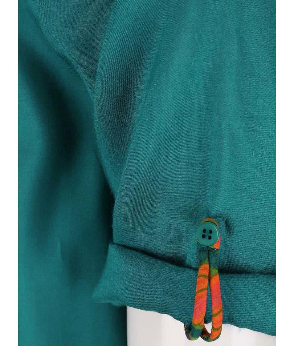 Tyrkysové košilové šaty Tranquillo Paloma