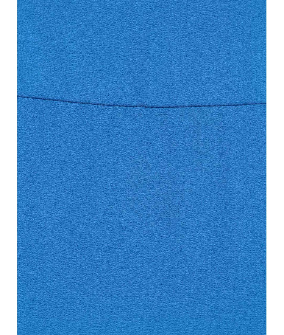 Modrá minimalistická halenka bez rukávů Dorothy Perkins