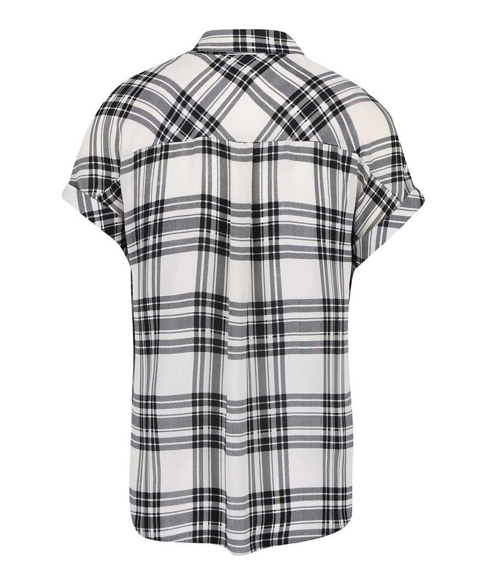 Krémovo-černá kostkovaná košile Dorothy Perkins
