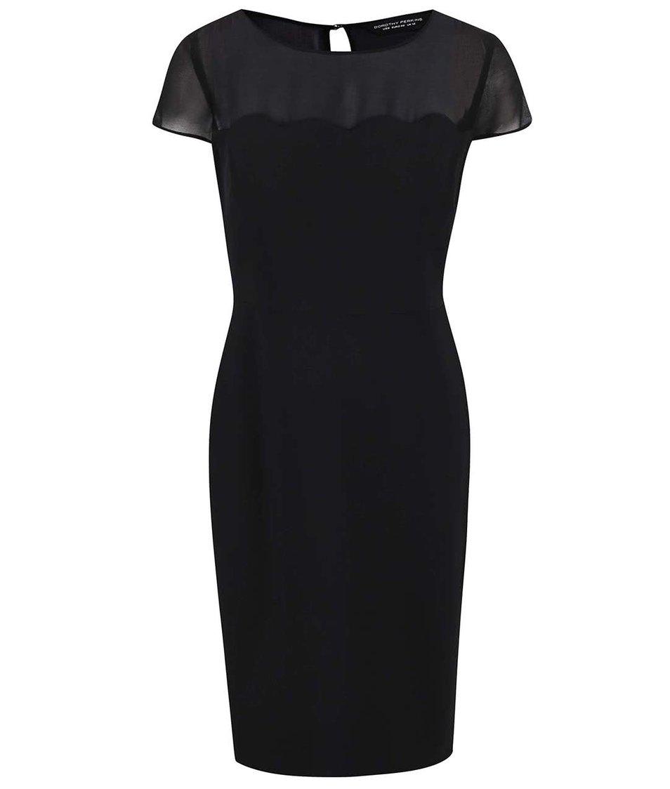 Černé upnuté šaty Dorothy Perkins