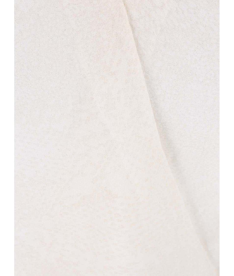 Krémová halenka s průsvitnými rukávy Dorothy Perkins